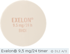 Exelon® 9,5 mg/24 timer