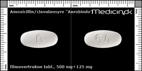filmovertrukne tabletter 500 mg+125 mg