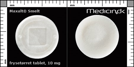 frysetørrede tabletter 10 mg