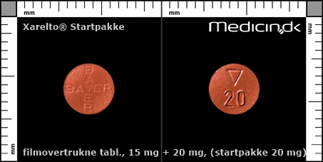 filmovertrukne tabletter 15 mg + 20 mg (Startpakke 20 mg)